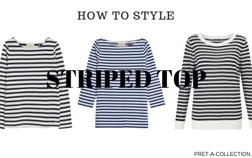 How to style striped top