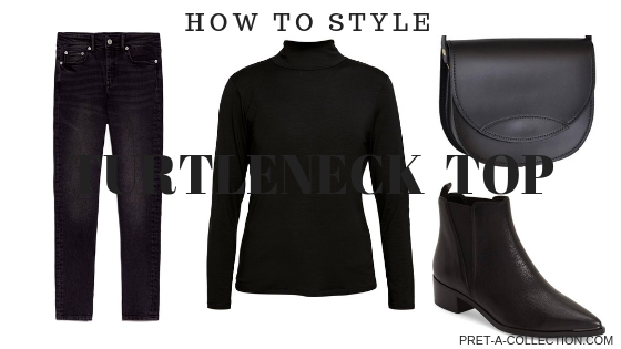 How to style turtleneck top