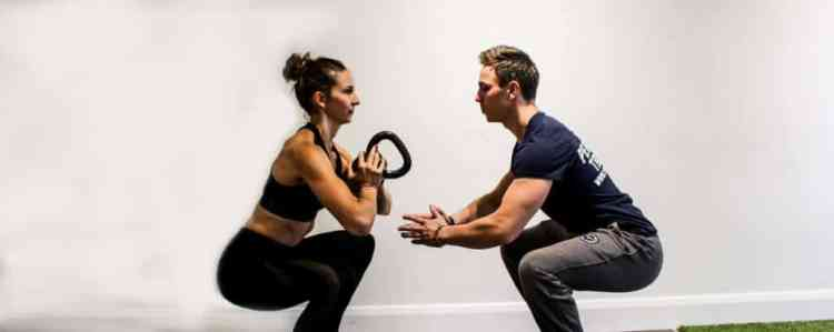 personal training at home client with pt