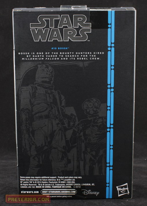 Hasbro Star Wars Black Six Inch Bossk