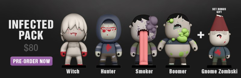 Welovefine Vinylkins Left 4 Dead Infected