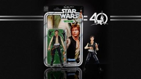 STAR WARS THE BLACK SERIES 6-INCH 40th ANNIVERSARY - Han Solo (in pkg)