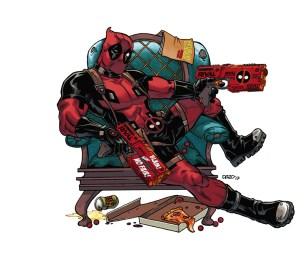 Deadpool Nerf Rival Blaster - character art