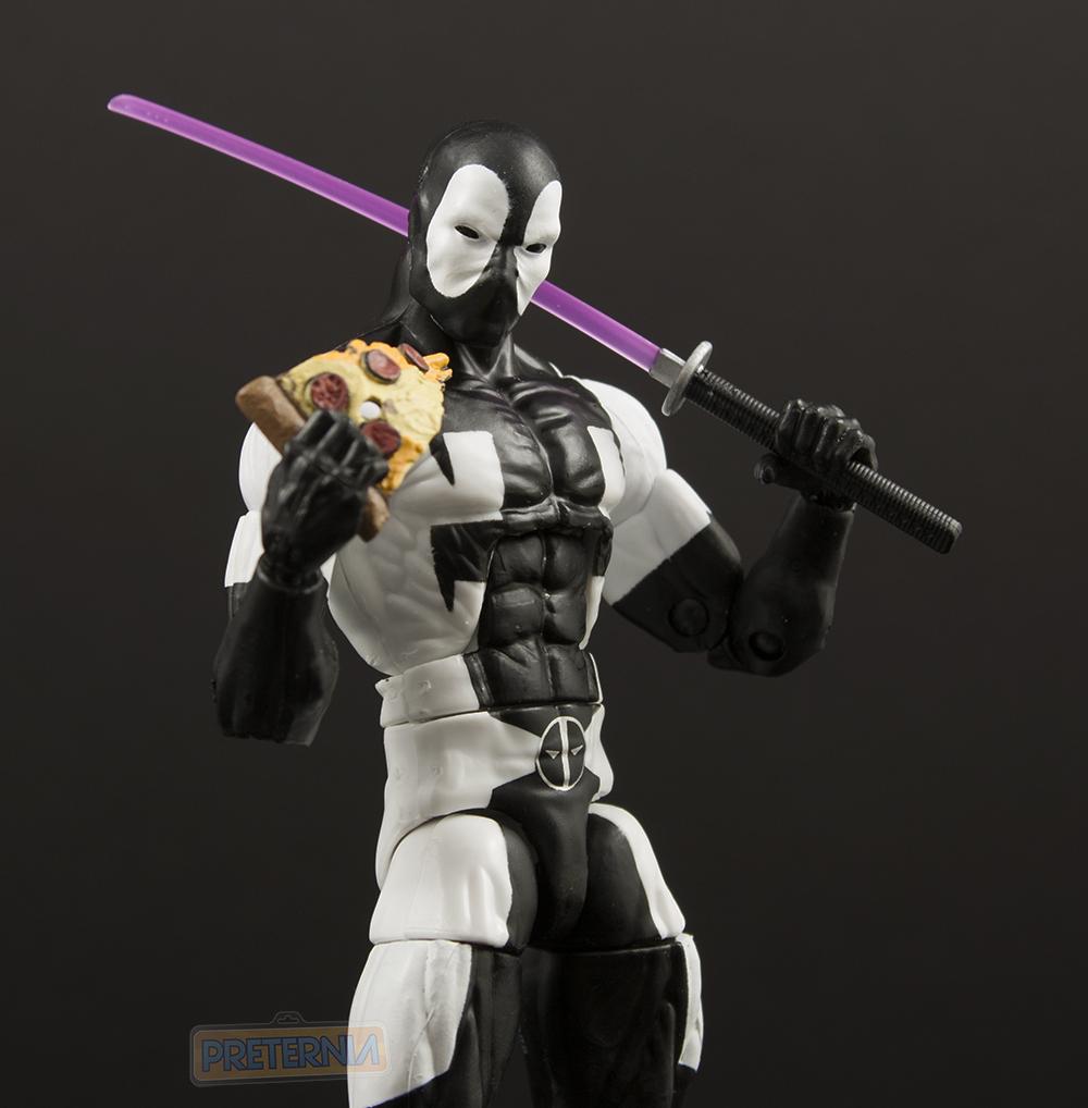 MARVEL LEGENDS DEADPOOL BACK IN BLACK Action Figure Game Stop Exclusive in hand