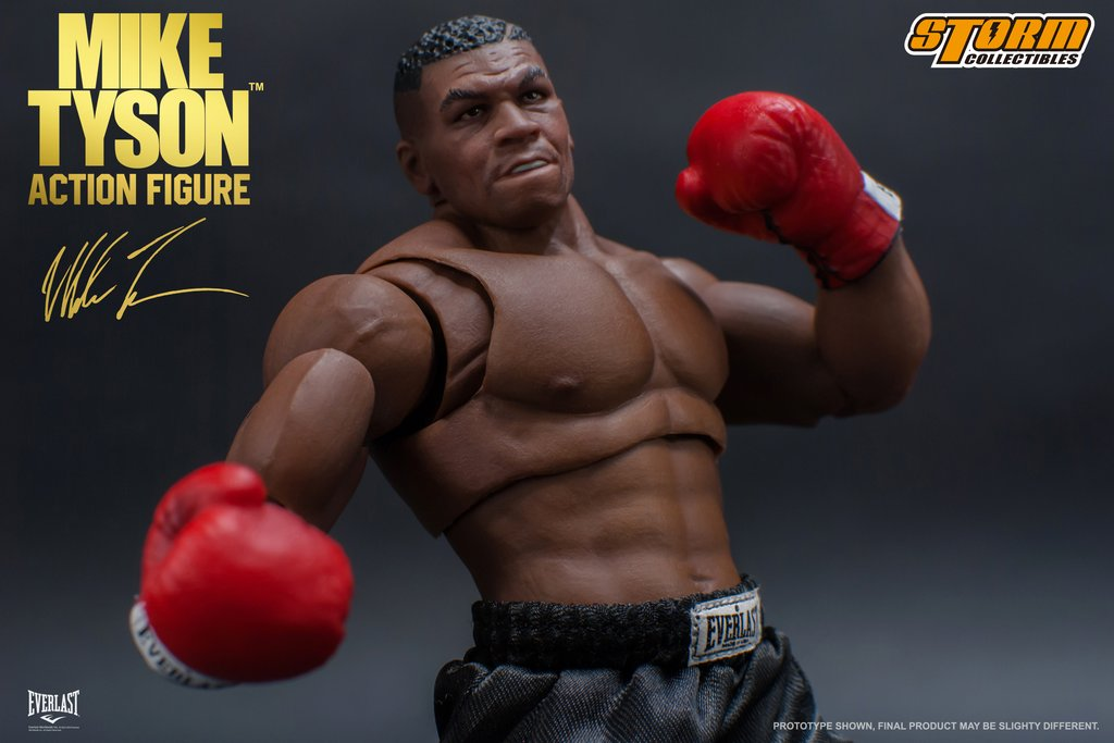 1//12 Storm Collectibles Boxing Champion Mike Tyson 3 Head Sculpt Action Figure