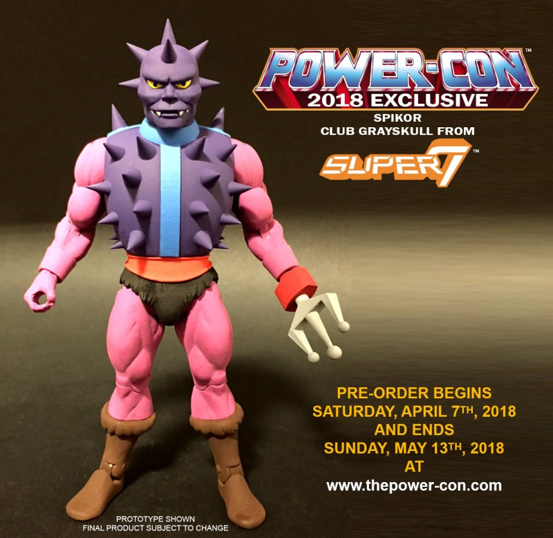 Super7: Power Con Exclusive MOTUC Filmation Spikor Revealed
