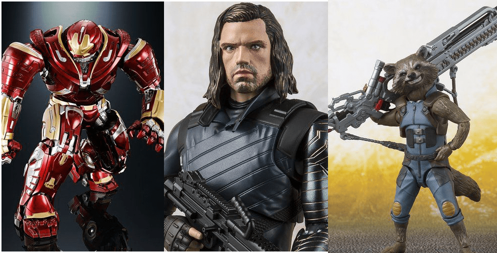 Bandai: Marvel Avengers Infinity War S.H. Figuarts Hulkbuster, Bucky, and Rocket Revealed