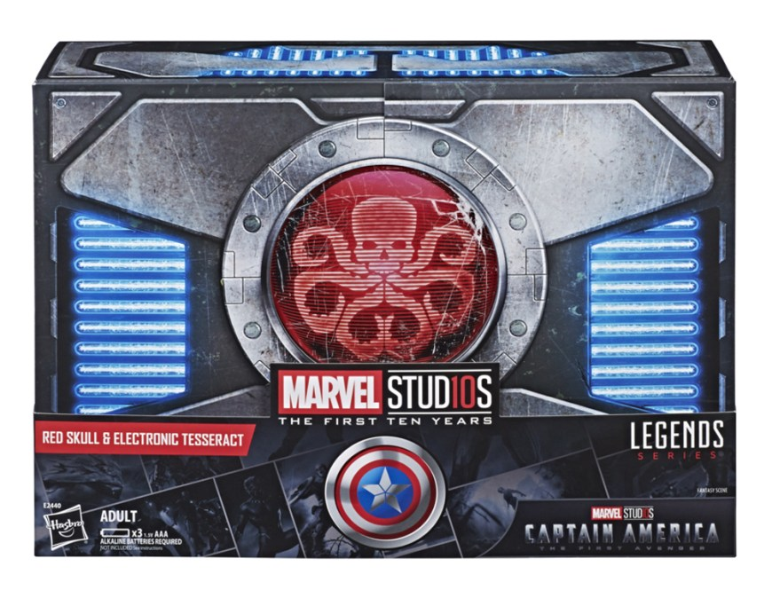 MARVEL LEGENDS SERIES RED SKULL & ELECTRONIC TESSERACT - in pkg2