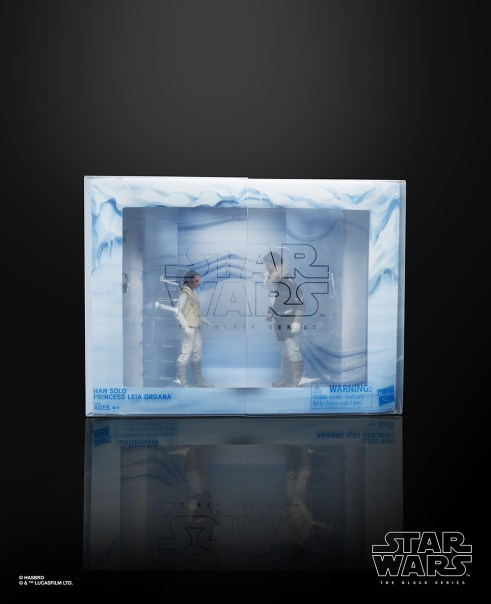 STAR WARS THE BLACK SERIES HAN SOLO AND PRINCESS LEIA ORGANA Figures - in pkg2