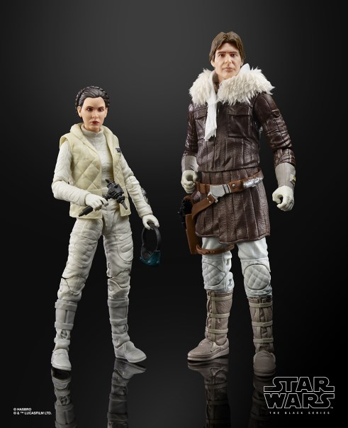 STAR WARS THE BLACK SERIES HAN SOLO AND PRINCESS LEIA ORGANA Figures - oop1