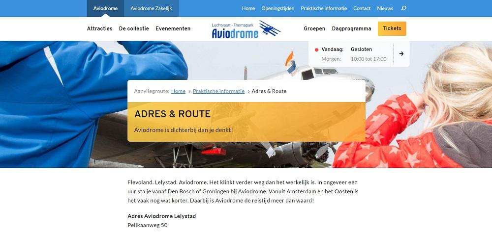 Aviodrome adres