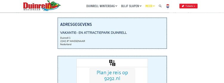 Duinrell adres