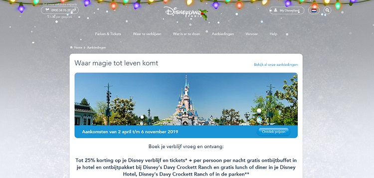 Korting Disneyland Parijs