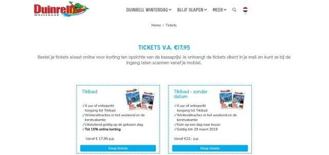 Duinrell tickets