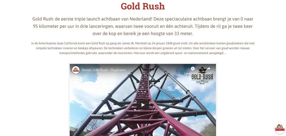 Gold Rush attractie Slagharen