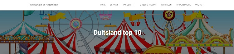 Pretparken Duitsland top 10