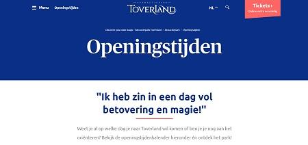 Toverland openingstijden