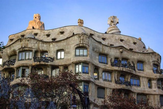 Gaudi's work in Barcelona - La pedrera