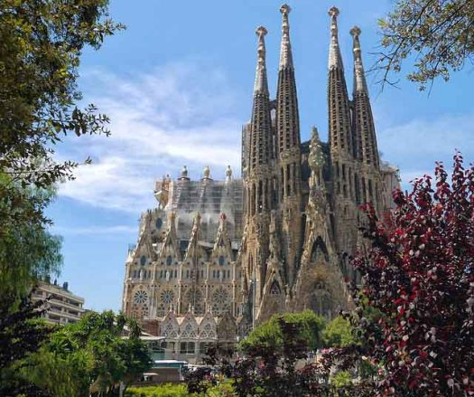 Gaudi's work in Barcelona - Sagrada Familia