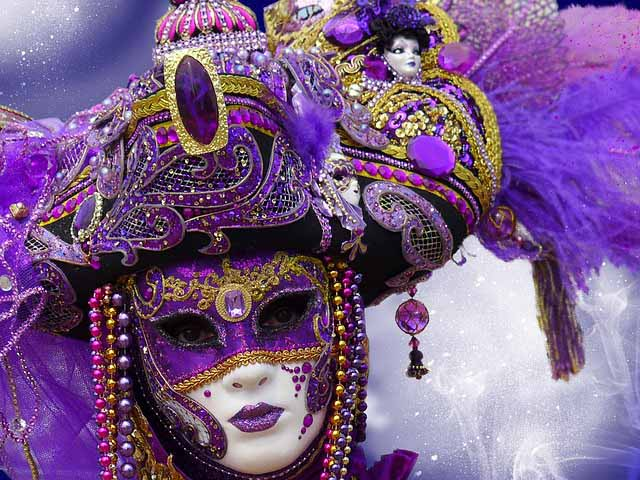 Photos of Venice Carnival masks