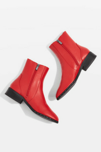 Topshop KASH Leather Socks Boots