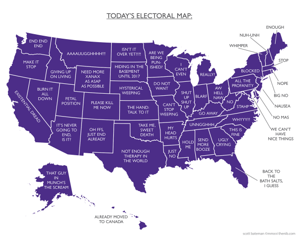 Today's Electoral Map by Scott Bateman