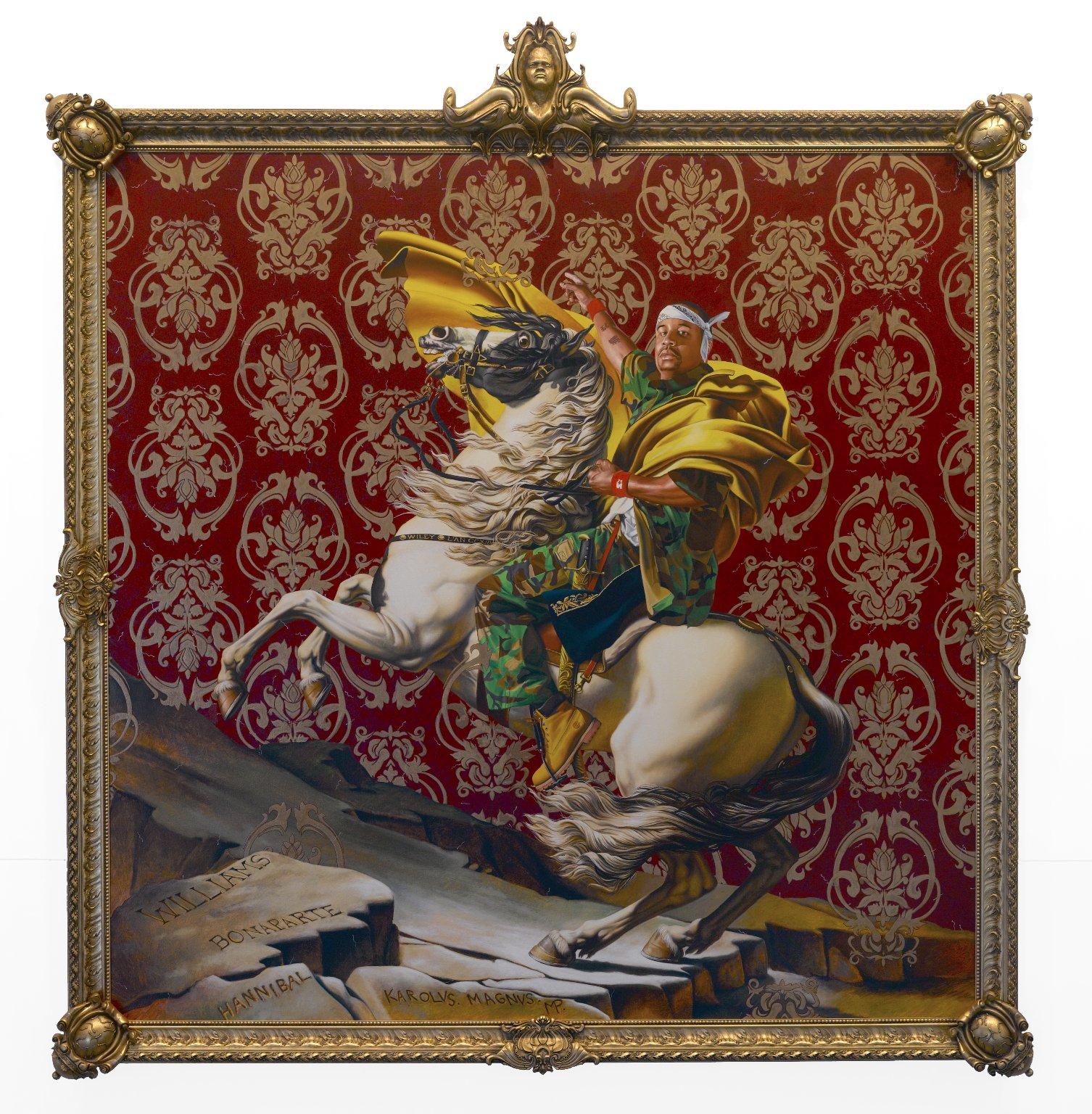 """""""Napoleon Leading the Army over the Alps"""" by Kehinde Wiley"""