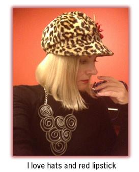 Magda in leopard cap