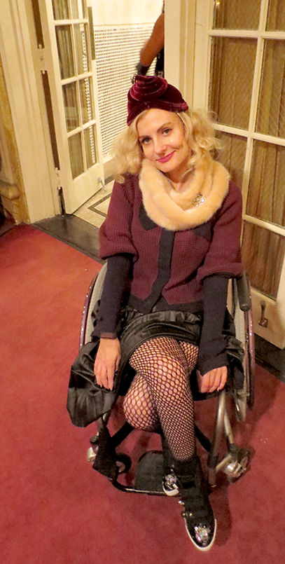 Pretty Cripple Magda at Amanda Palmer show in NY