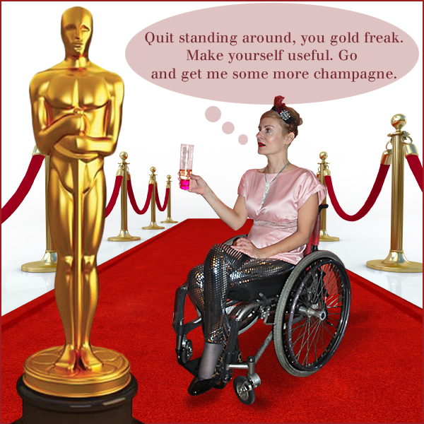 Magda of Pretty Cripple at the Oscars®