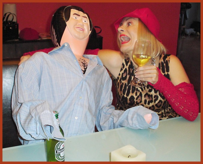 laughing with my male blow up doll