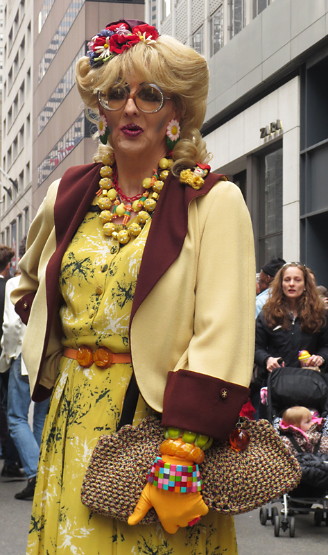 In drag at the Easter Hat Parade