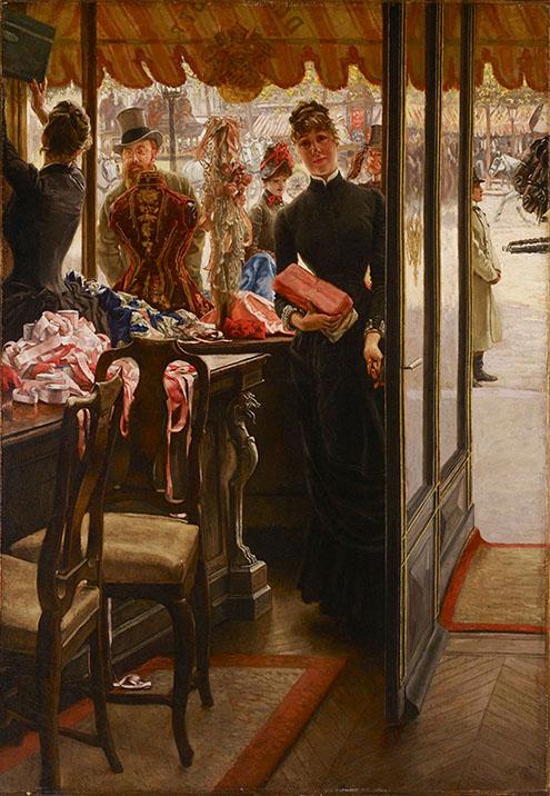 James Tissot's Shop Girl Painting