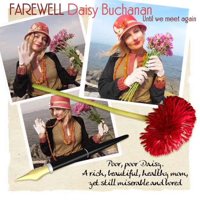 Magda waves goodbye to Daisy Buchanan