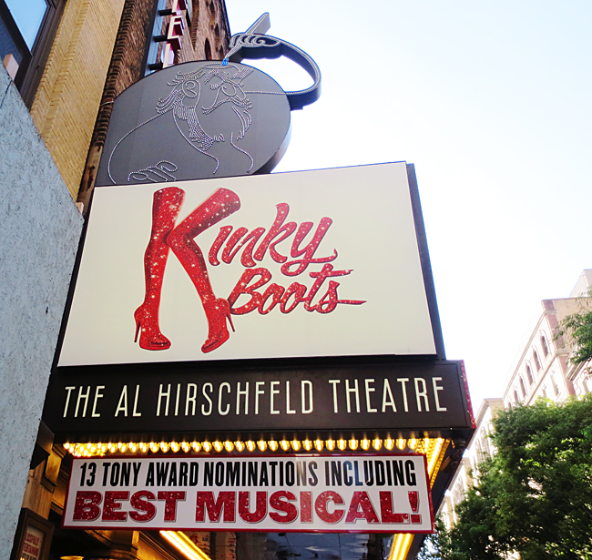 Kinky Boots at the Hirschfeld theater