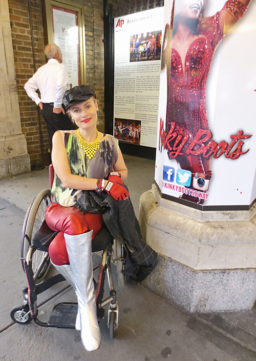 Pretty Cripple Magdalena at Kinky Boots