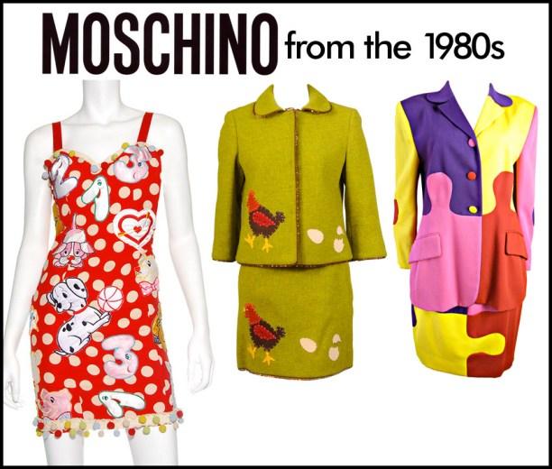 1980s Moschino fashion