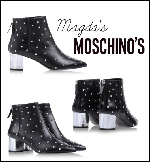 Moschino fall 2013 black silver booties