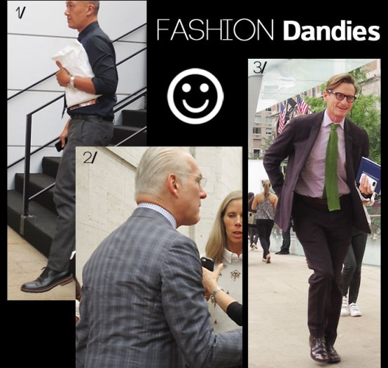 Fashion dandies at NY fashion week September 2013