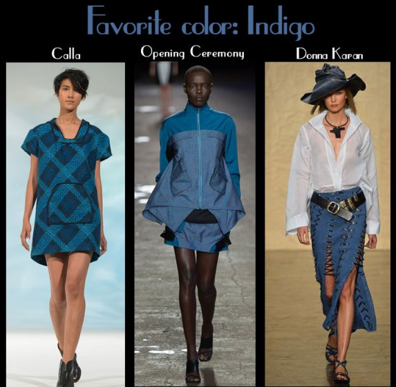 Spring 2014 designer womens collection in blues