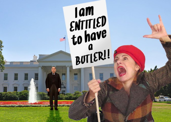 protesting in Washington DC to get a free butler on Butlerexchange.com