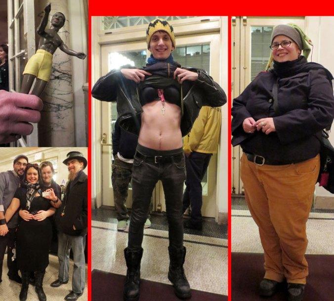 Fans at Amanda Palmer Neil Gaiman Town Hall NY show