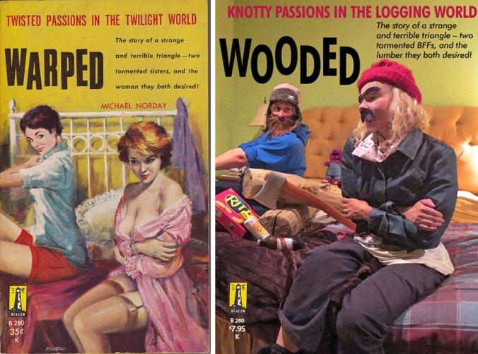 Girls dressed as lumberjack-jills. girls in beards