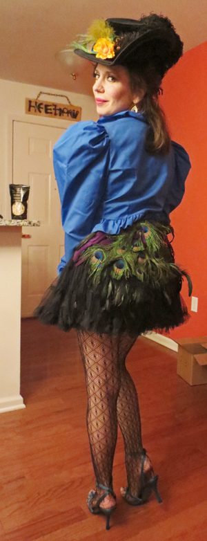 Peacock ass-Steampunk costume