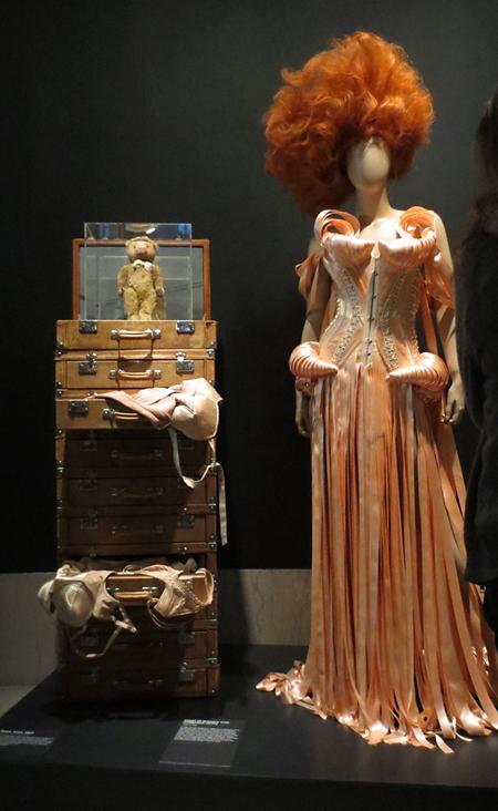 Nana Gaultier teddybear and black swan gown