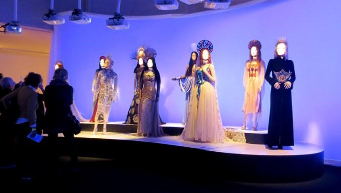 Virgins room at Gaultier exhibit