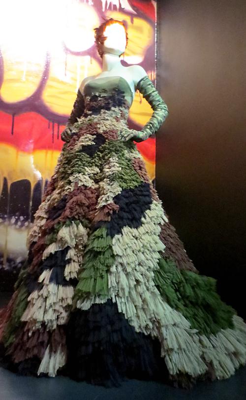 Gaultier camo Sarah Jessica Parker Dress
