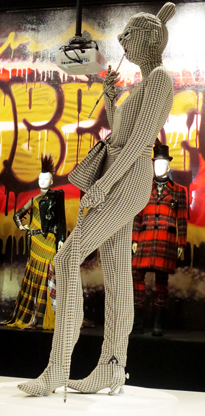 Houndstooth model Gaultier