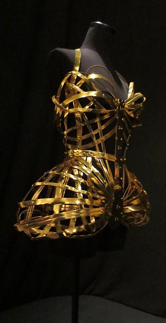 Gold metal Gaultier corset