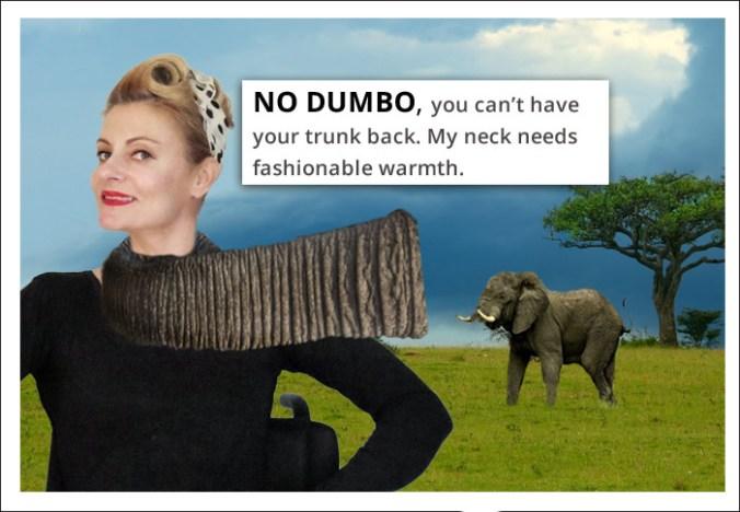 Elephant trunk scarf